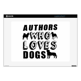 authors Who Loves Dogs Decal For Laptop