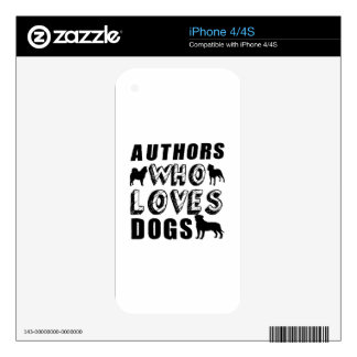 authors Who Loves Dogs iPhone 4 Decal