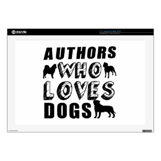authors Who Loves Dogs Laptop Decals