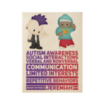 """Autism - 19"""" x 14.5"""" 100% natural wood poster! wood poster"""