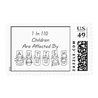Autism: 1 in 110 postage stamps