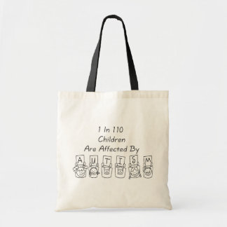 Autism: 1 in 110 tote bag