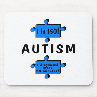 Autism 1 in 150 1 Every 20 Minutes Mouse Mat