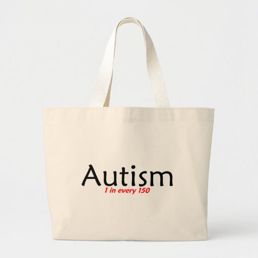 Autism 1 in 150 Black and Red Canvas Bag