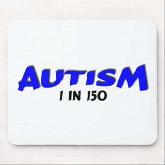 Autism 1 in 150 Blue Mouse Pad