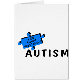 Autism 1 in 150 (Blue Piece) Card