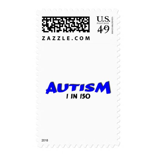 Autism 1 in 150 Blue Postage