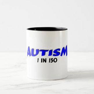 Autism 1 in 150 Blue Two-Tone Coffee Mug