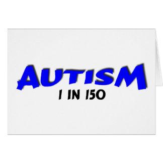 Autism 1 in 150 ( BlueBlk) Card