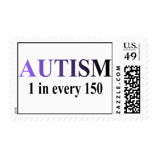 Autism 1 in 150 postage