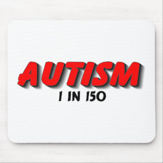 Autism 1 In 150 Red Mousepad