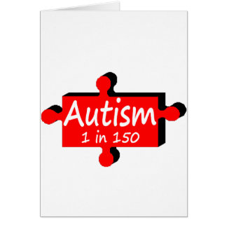 Autism 1 in 150 (Red P Piece) Card