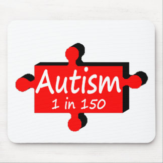 Autism 1 in 150 (Red  PP) Mouse Mats