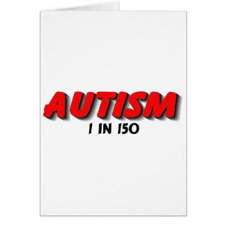 Autism 1 in 150 (RedBlk) Card