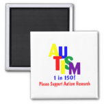 Autism 1 in 150 Support Autism Research Refrigerator Magnets