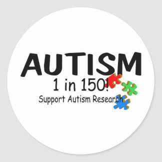 Autism 1 in 150 Support Research PP Sticker