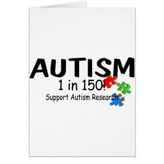 Autism 1 in 150 Support Research (Puzzle Pieces) Card