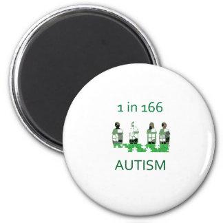 Autism 1 in 166 2 inch round magnet
