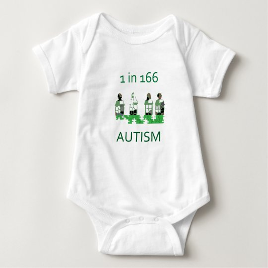 Autism 1 in 166 baby bodysuit