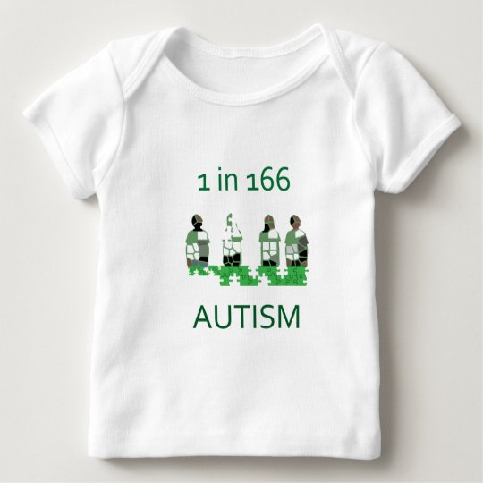 Autism 1 in 166 baby T-Shirt