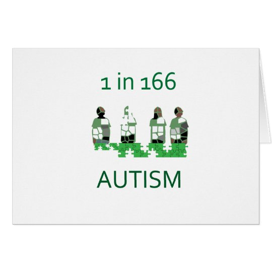 Autism 1 in 166 card