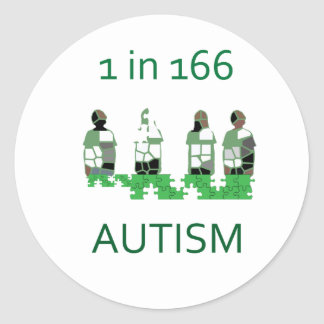 Autism 1 in 166 classic round sticker