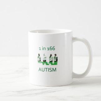 Autism 1 in 166 classic white coffee mug