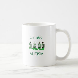 Autism 1 in 166 coffee mug
