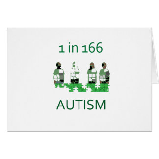 Autism 1 in 166 greeting card