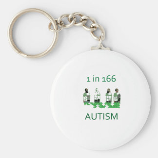 Autism 1 in 166 keychain