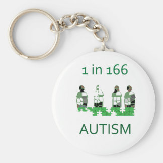 Autism 1 in 166 keychains