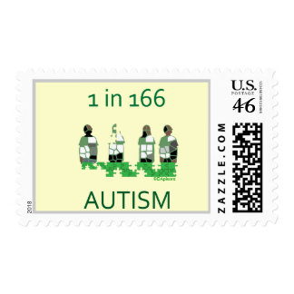 Autism 1 in 166 postage