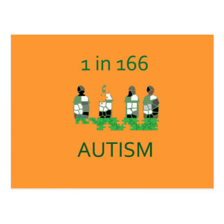 Autism 1 in 166 postcard