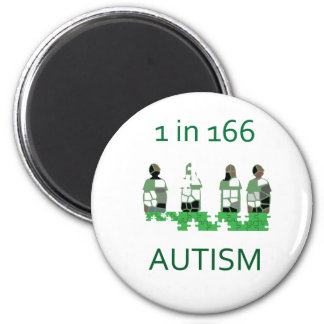 Autism 1 in 166 refrigerator magnets