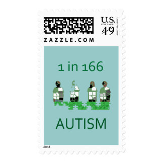 Autism 1 in 166 stamps