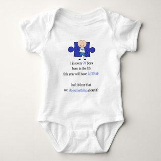 Autism 1 in 70 baby bodysuit