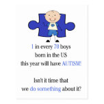 Autism 1 in 70 post cards