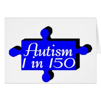 Autism 1 n 150 (Blue P Piece) Card