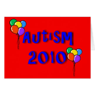 Autism 2010 Balloon Card