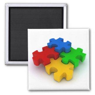 Autism 3D Puzzle Pieces refrigerator magnets