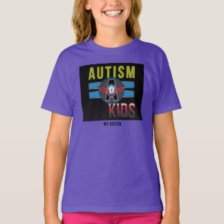 'Autism A Kid'Girls Basic Tagless ComfortSoft®Tee* T-Shirt