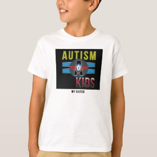 'Autism A Kids' Hanes Poly-Cotton white Tee* T-Shirt