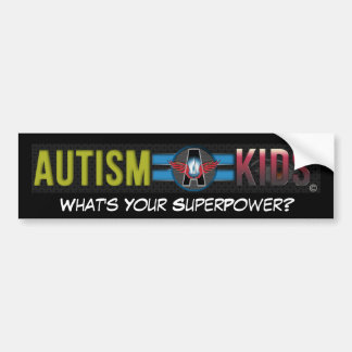 AUTISM A KIDS  WHAT'S YOUR SUPERPOWER? STICKER