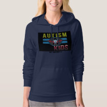 Autism A Kids Women's American Apparel Fleece Top* Hoodie