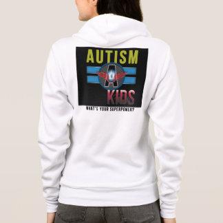 'Autism A Kids' Women's Fleece Raglan Zip Hoodie* Hoodie