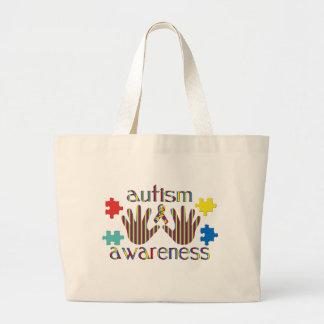 Autism Aawareness Large Tote Bag