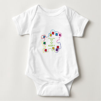Autism Accept It!!! Baby Bodysuit
