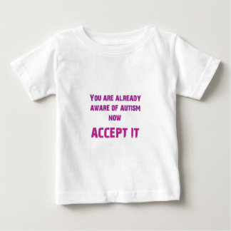 Autism Accept It Pink/Purple Baby T-Shirt