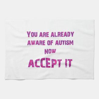 Autism Accept It Pink/Purple Hand Towels