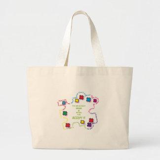 Autism Accept It!!! Tote Bag